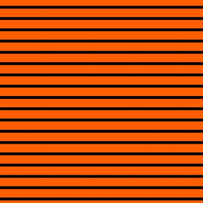 Stripes - Horizontal - Orange (#FF5F00) and Black (#000000)