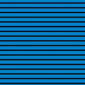 Stripes - Horizontal - Mid Blue (#0081C8) and Black (#000000)