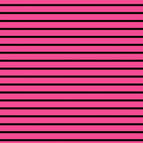 Stripes - Horizontal - Mid Pink (#F34C92) and Black (#000000)