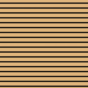Stripes - Horizontal - Pale Brown (#E0B67C) and Black (#000000)