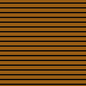 Stripes - Horizontal - Mid Brown (#995E13) and Black (#000000)
