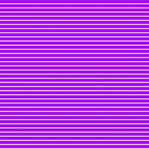 Stripes - Horizontal - Mid Purple (#AA00FF) 0.4 inch stripes with White (FFFFFF) 0.1 inch stripes
