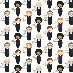 2020 Female Justices of the Supreme Court 1.5 inch Scale © Jennifer Garrett