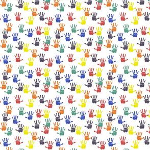 Dean's Fingerpaint Handprints