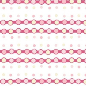 Pink and Yellow Dotted Ribbon