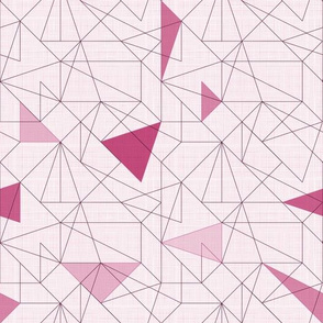 Triangles&lines (Maroon)
