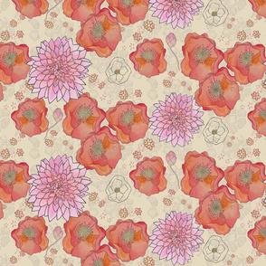 Poppy & Dahlia print