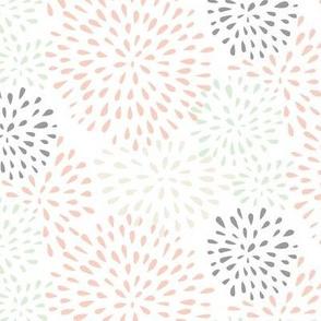 Flower Bursts (white) - Wedding Palette 2016
