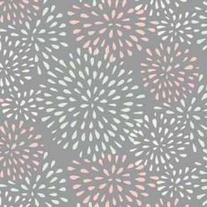 Flower Bursts (grey) - Wedding Palette 2016