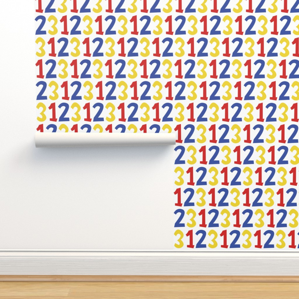 Isobar Durable Wallpaper featuring 123 by anniecdesigns