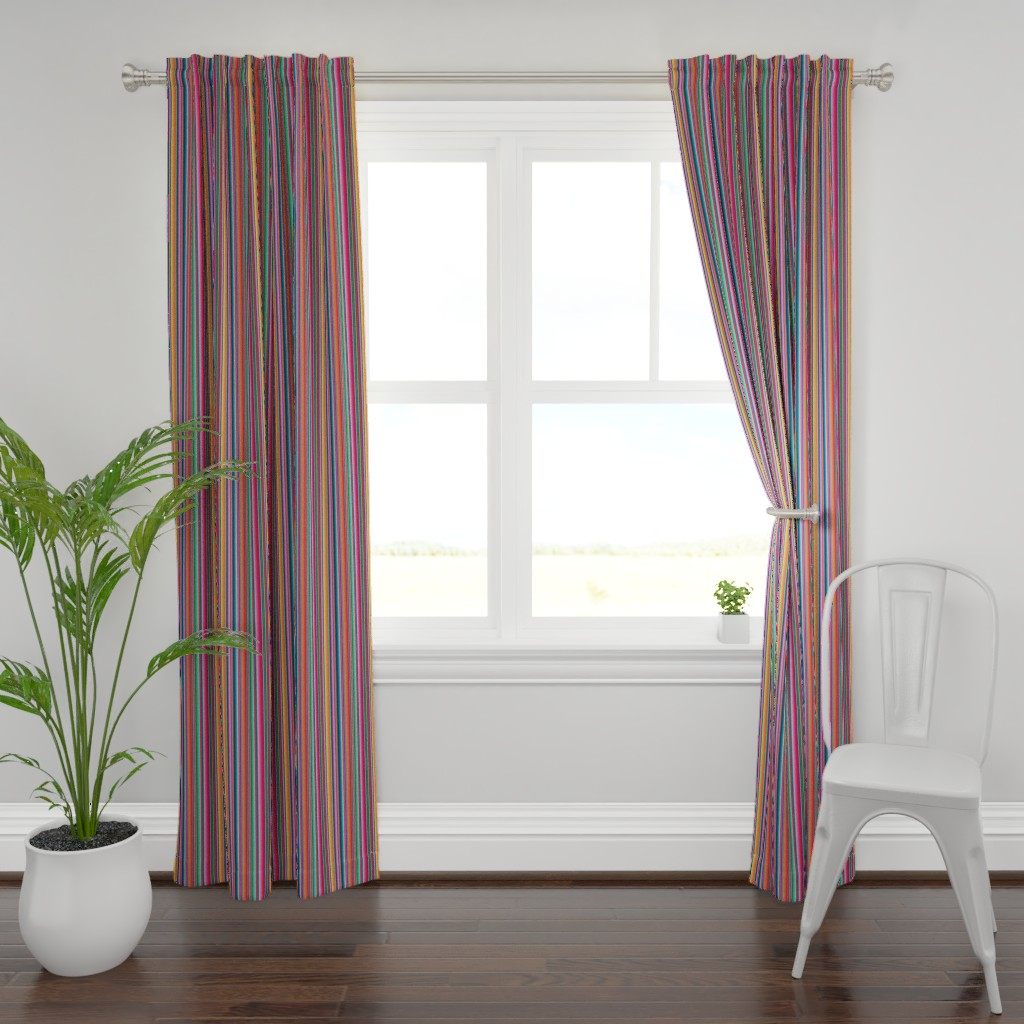 Plymouth Curtain Panel featuring Mexican Blanket by anchored_by_love