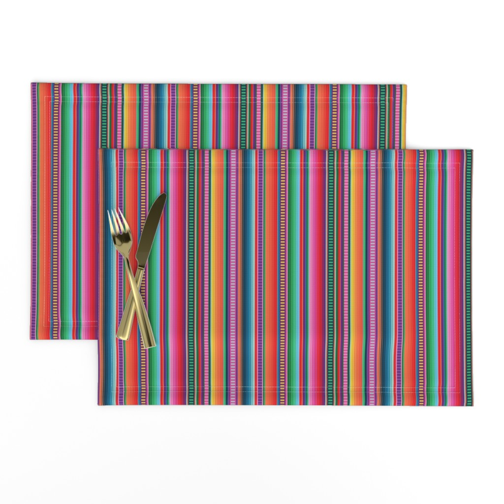 Lamona Cloth Placemats featuring Mexican Blanket by anchored_by_love