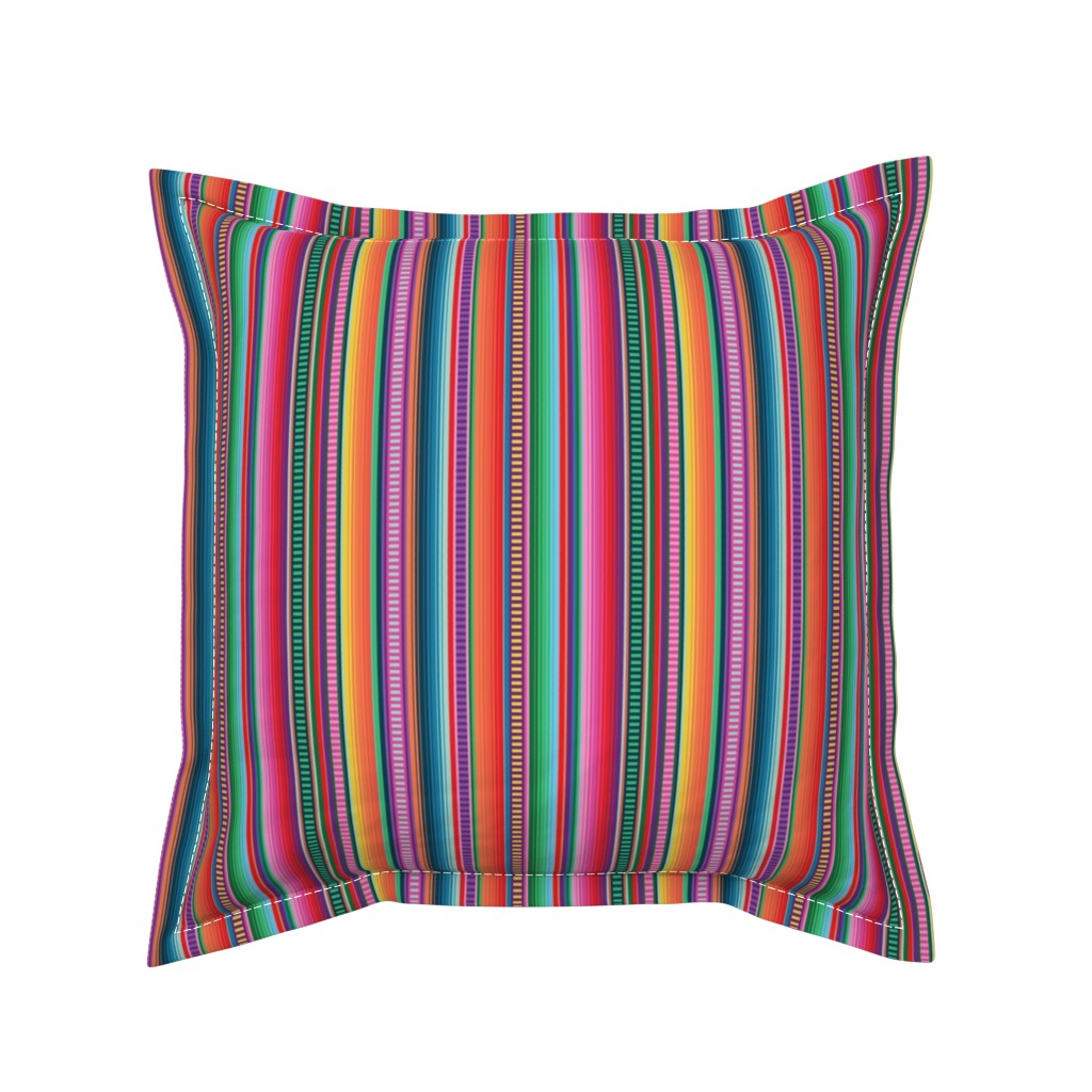 Serama Throw Pillow featuring Mexican Blanket by anchored_by_love