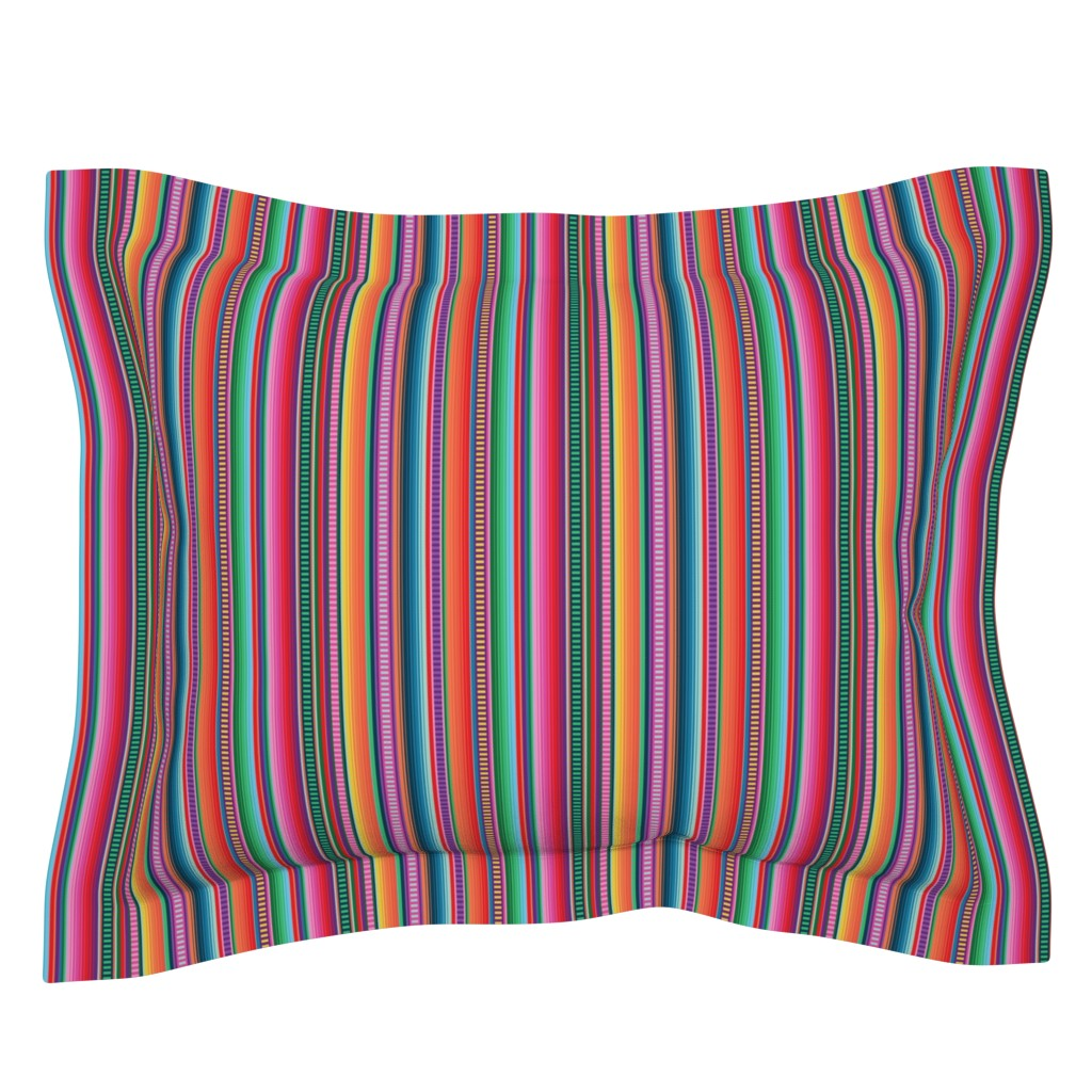 Sebright Pillow Sham featuring Mexican Blanket by anchored_by_love