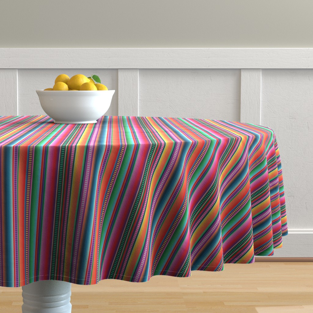 Malay Round Tablecloth featuring Mexican Blanket by anchored_by_love