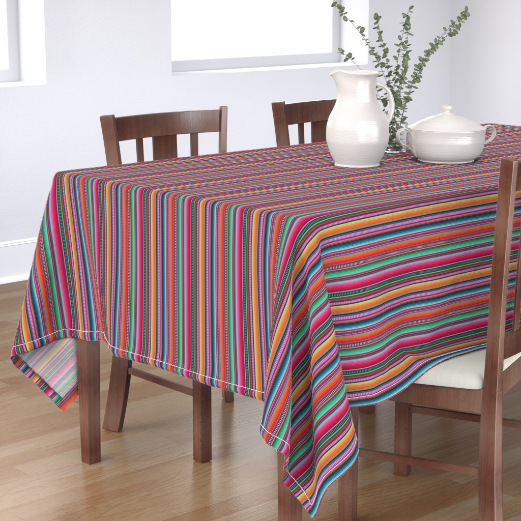 Bantam Rectangular Tablecloth featuring Mexican Blanket by anchored_by_love