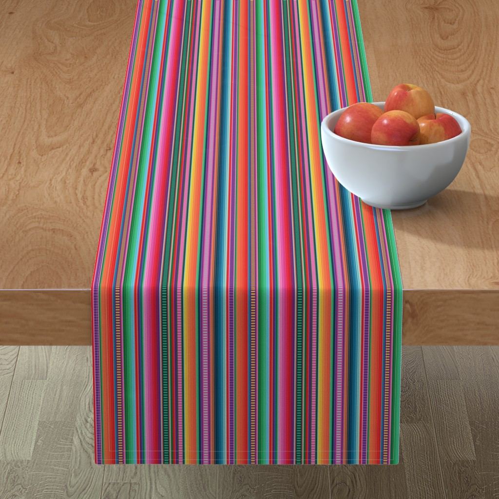 Minorca Table Runner featuring Mexican Blanket by anchored_by_love