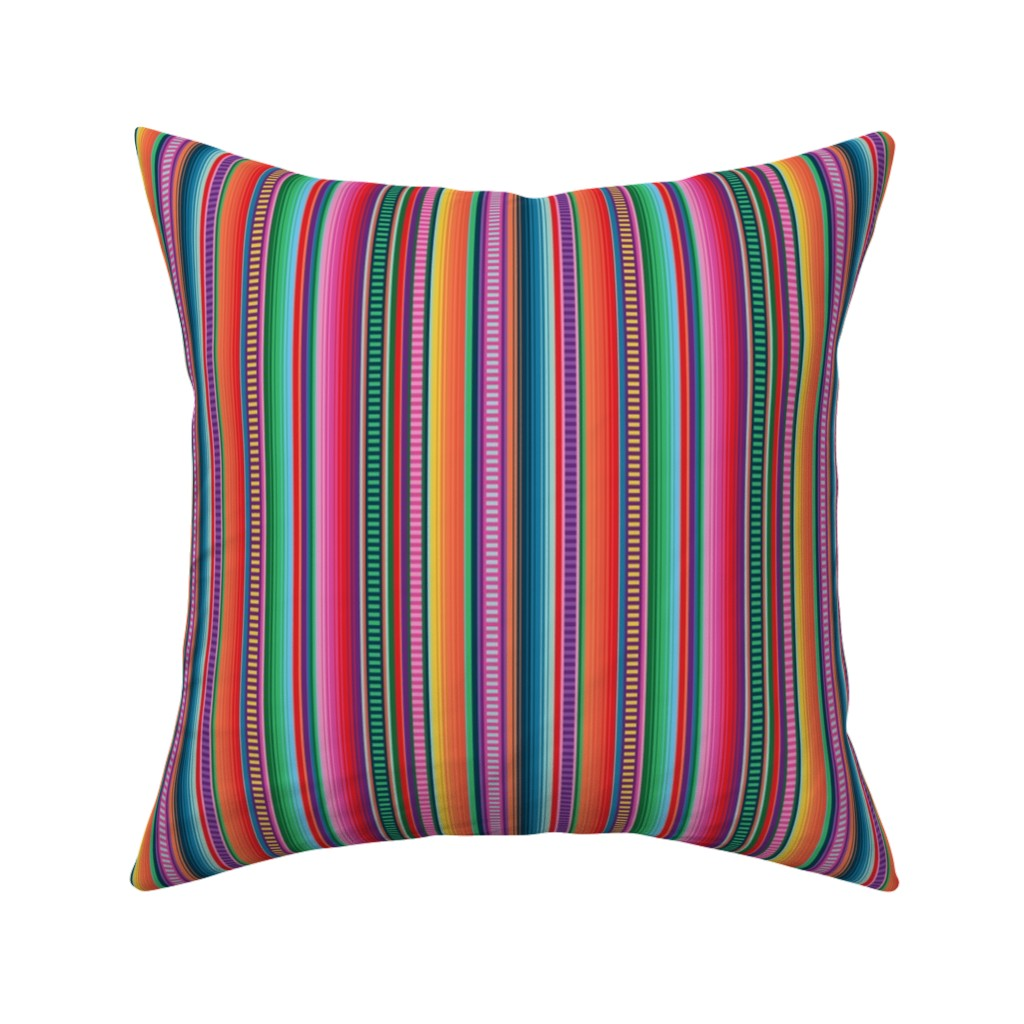 Catalan Throw Pillow featuring Mexican Blanket by anchored_by_love