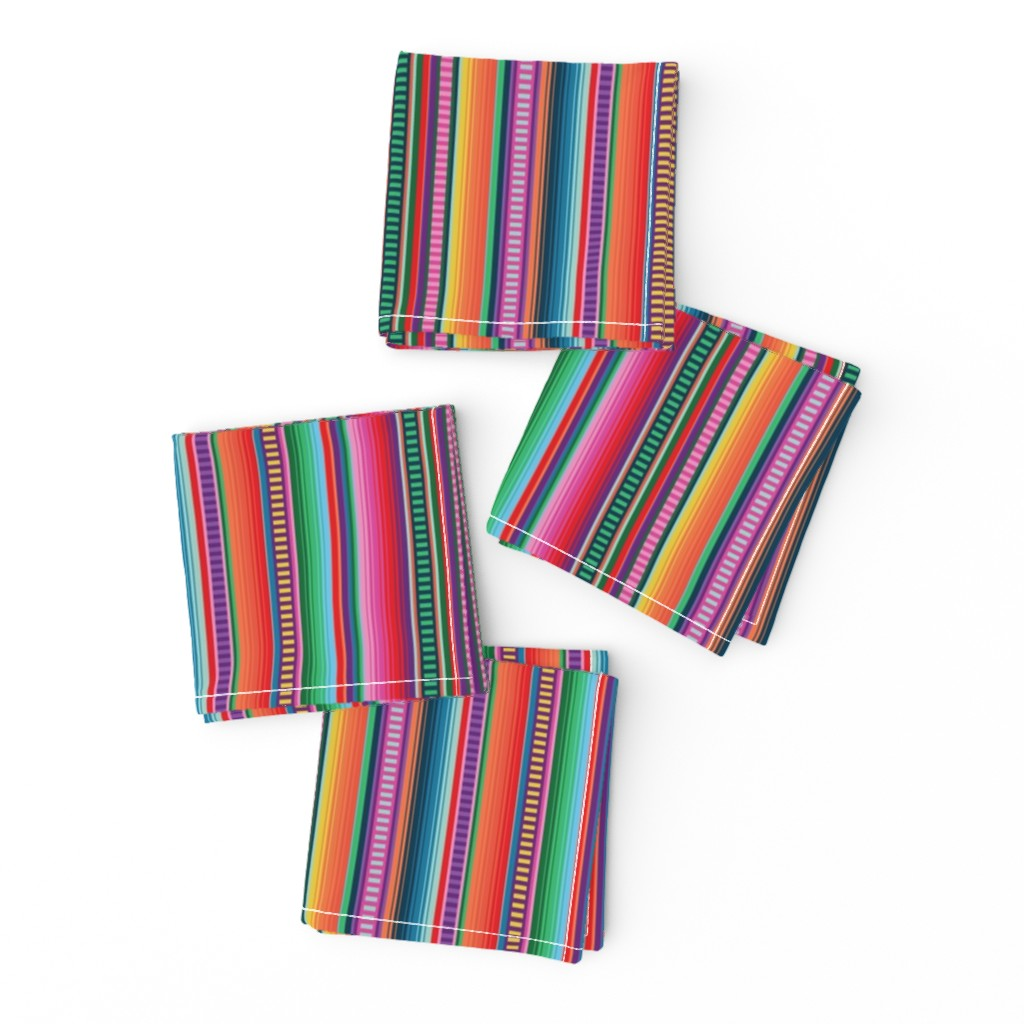 Frizzle Cocktail Napkins featuring Mexican Blanket by anchored_by_love