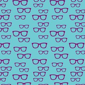 Purple Teal Glasses