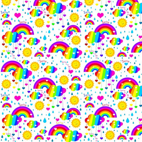 rainbow_design_clouds_love