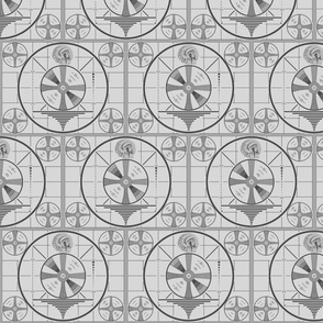Dean's Vintage TV Test Pattern ~ Large