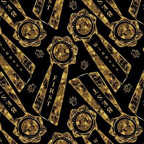 Faux gold rosettes