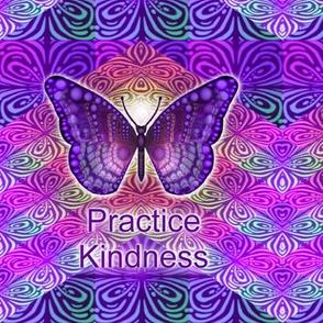 Purple Butterfly Practice Kindness