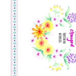 Butterfly and Wildflowers Tea Towel