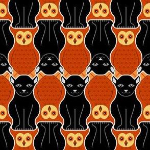 05049725 : owl + pussy cat : halloween