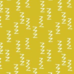 Geometric raw zigzig thunder lightning thunderbolt memphis style modern abstract brush strokes mustard yellow