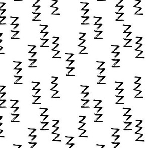 Geometric raw zigzig thunder lightning thunderbolt memphis style modern abstract brush strokes black and white