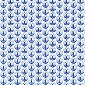 Circle Bud - blue on white