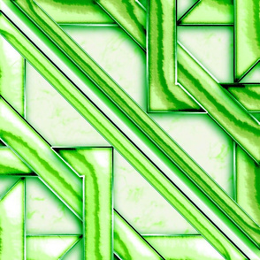 Marble Quilt Green Diagonal Scarf