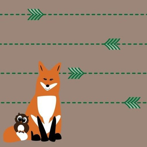 Fox & Owl Arrow Pattern
