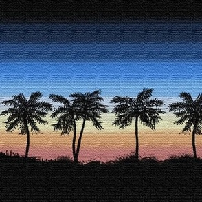 Ombre Sunset Palm Trees