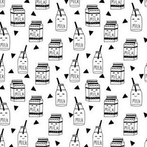 "milk // 1"" black and white milk jug cute kids design"