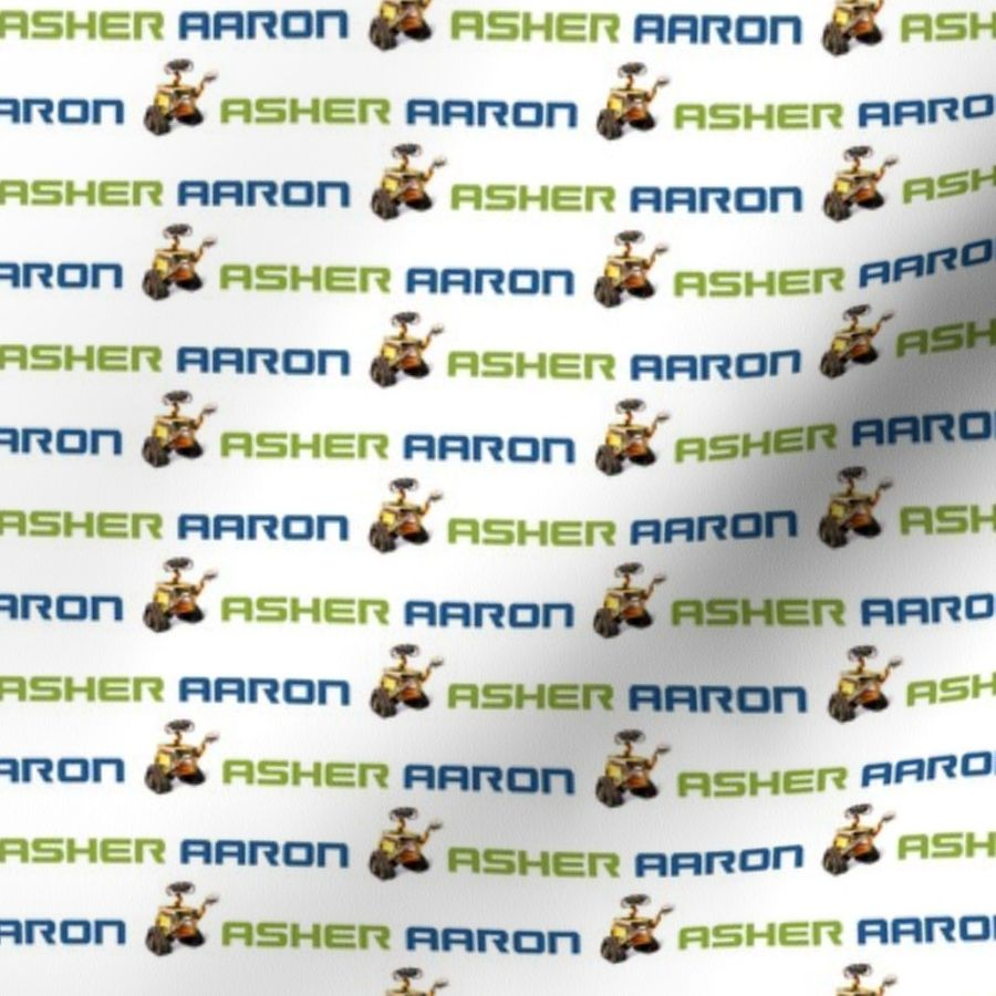 Asher Aaron Personalized Fabric - Spoonflower