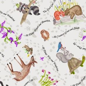 Forest Friends Animals, Bear, Fox and Deer
