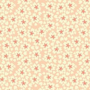 Sakura Blossoms in Pink // Modern Japanese floral pattern by Zoe Charlotte
