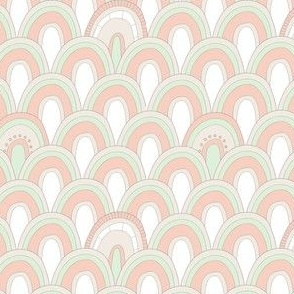 Wedding Palette Art Deco Scallop Coral
