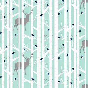 walk in the woods // mint & grey