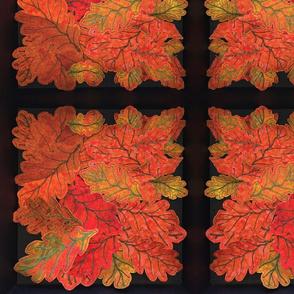 Handmade Autumn Leaves on Black