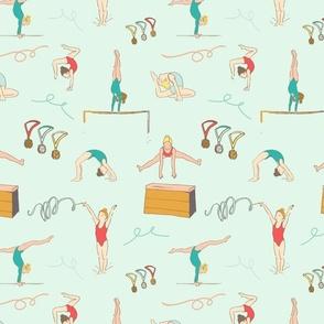 Ditsy Flowers, caramel