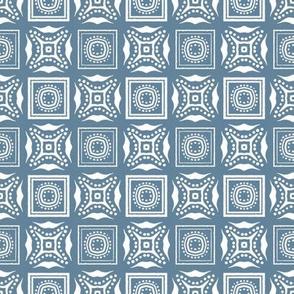 Chinese Indigo Tiles ~ Bian ~ Variation Ba ~ 2 ~ Elzabeth Blue and White