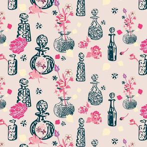 Vintage Scent Bottles-black