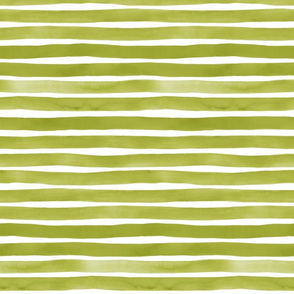 Watercolor Stripes M+M Grass by Friztin