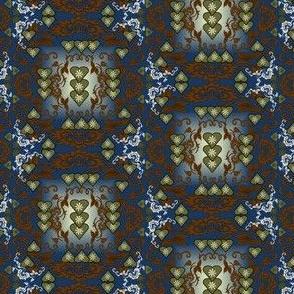 Grandpa Lewis and Grandma Aurora May Victorian Flowers  Fabric #2
