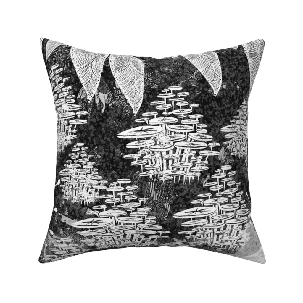Catalan Throw Pillow featuring Botanical Night by age_of_wonder