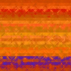 Bright Orange Textured Stripe